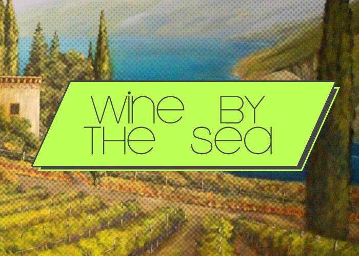 Wine by the sea mural